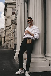 Andrejs Šemeļevs - Cos Shirt, Zara Bag, Cos Pants, Hugo Boss Sneakers - FRIDAY LOOK