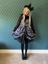 Chrissii D - Alice And The Pirates One Piece, Henry Holland X Pretty Polly Pearl Tights, Jeffrey Campbell Shoes Lita, Moi Même Moitié Choker - Alice and the Pirates