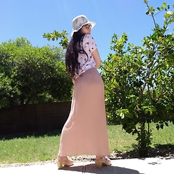 Saguaro Style - Marshall's Donut Print Blouse, Marshall's Pink Maxi Dress, Pink Clogs - 5.29.20