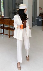 Miamiyu K - Miamasvin Collarless Jacket And Straight Cut Slacks Set | $30.50 - Sleek Modern