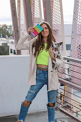 Jenny M - Zara Top, Forever 21 Blazer, H&M Jeans - IG: @thehungarianbrunette // Rainbow edit #1