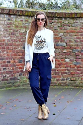 Rimanere Nella Memoria - More & Pants, Miu Sunglasses - Casual Chic with Cargopants