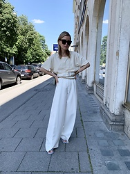 Anna Borisovna - Envelope19767 Shirt, Brian Dales Pants, Mango Belt - The White Look