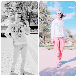 Galina K - Shein Sweatshirt, Promod Pants - Something new