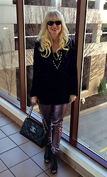 Shannon D - Prada Jacket, Chanel Bag, Seven Metallic Pants - Metallics