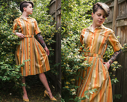Carolyn W - Vintage, Zara Yellow - Stripes in the Honeysuckle