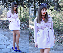 Jointy&Croissanty © -  - Pastel pink trench coat
