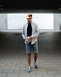 Andreas Sundbom - Our Legacy Shirt, Filippa K T Shirt, Levi's® Jeans Shorts, Adidas Sneakers - I scream for ice cream