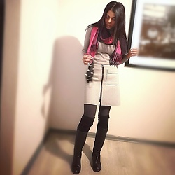 Meagan Duckitt - Legit Ponti Skirt, Plum Biker Boots - Gradually growing