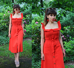Jointy&Croissanty © -  - Summer red dress
