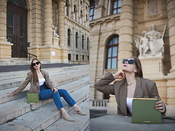 Daniela Guti - Jeans, Bag, Sunglasses, Blazer, Shoes - PERFECT OUTFIT WITH JEANS