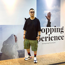 Mannix Lo - Bershka Oversized Tee, Retrostone Remade Patchwork Vintage Military Shorts, Miharayasuhiro Sneakers - People should find happiness in the little things