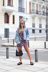Claudia Villanueva - Vintage Jacket, Loavies Dress, Shein Bag, Monki Sandals - I´m a 90´s Babe
