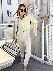 Anna Borisovna - Massimo Dutti Shirt, Sundarbay Blouse, Sundarbay Pants, Mango Shoes - The Light Neon Look