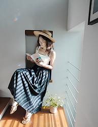 Amanda Olivia L. - Love Bonito Maxi Skirt, Charles And Keith Kitten Heels - This sunshine corner