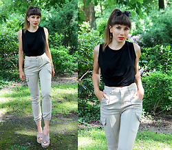 Jointy&Croissanty © - Femmeluxefinery Pants - Black and beige