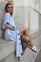 Anna Borisovna - Bouguessa Dress, Mango Shoes - The Light Blue Dress