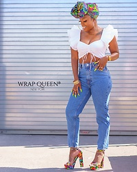 Kelly W -  - Crop Top & Mom Jeans