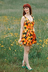 Bleu Avenue - Modcloth Delighted All Day Romper In Citrus - Delighted All Day Romper