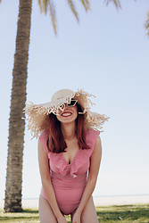 Mi Vida En Rojo - Aava Swim Swimsuit, American Vintage Sunnies, Local Artisan Shop Hat - Hello Summer!