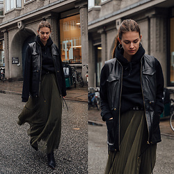 Jacky - Asos Vest, Pull & Bear Sweater, Asos Pleated Skirt, Topshop Boots - Pleated Skirt and Leather Vest