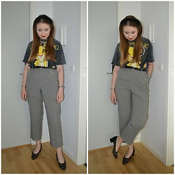 Mucha Lucha - Bershka T Shirt, Second Hand Belt, Second Hand Trousers, Second Hand Shoes - Mix of many styles