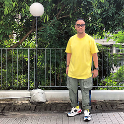Mannix Lo - Madness Patchwork Denim Military Pants, Miharayasuhiro Sneakers - I am working on a new me