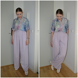 Mucha Lucha - Second Hand Shirt, H&M Trousers, Topshop Shoes - Pastel theme