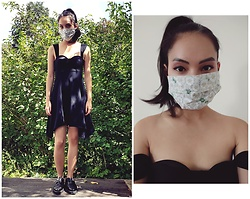 Tram Anh - American Apparel Lbd, Underground Creepers, Rice And Shine Mask - Reflect the times that you're in