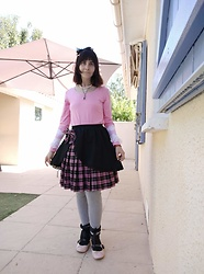 Lulu Longstocking - Lolita Skirt, Ballerinas, Frilly Cuffs, Headbow, Second Hand Pink Top - Doll