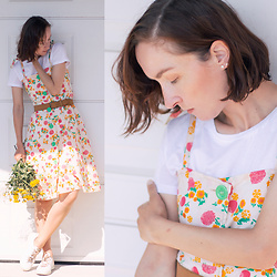 Iva K - Tamaris Sneakers, C&A Top, Vintage Dress - Summer time