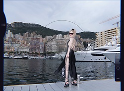 Emmalynn V - Kenzo Fanny Pack/ Belt Bag, Are You Am I Ayai Low Back Dress, Celine Square Sunglasses - Monte Carlo Method