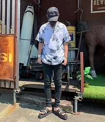 ★masaki★ - Self Made Tie Dye Shirts, Neuw Denim Rebel Skinny, Dr. Martens Sandals - What a Lovely Day