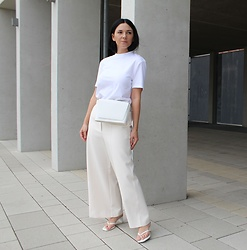 Kat I. - Ivy And Oak Pants, Baukjen Top - Shades of white