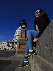Lady Habana - Vogue Sunglasses, Maralyn & Me Puffer Coat, Skechers Sneakers - TBT Washington