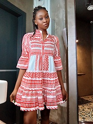 Melody Jacob -  - Tribal print dress