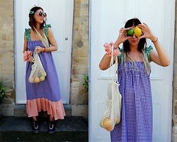 Joanna L - The Rusty Wool Gingham Dress, Gucci Shoes - Mix gingham dress/ @therustywool