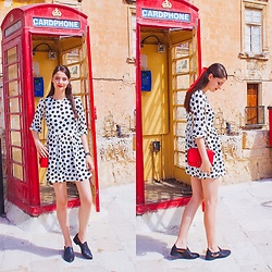 Nora Aradi - Stradivarius Dress, H&M Flats, Charles & Keith Bag - Red in Valletta