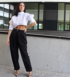 Kat I. - Naken Blouse, Finery London Pants - Cropped