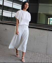 Kat I. - Shipshape Blouse, Nakd Shoes - Total white