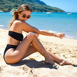 Tamara Bellis - Asos Swimsuit, Retro Sunglasses - Benefits of Island Life