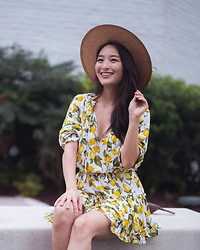 Kimberly Kong - Lemon Print Mini Dress - The Lemon Print Mini