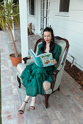 Lisa Valerie Morgan - Forever That Girl Dress, Steve Madden Sandals, Book, Drexel Heritage Chair - Back to the Blog!