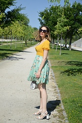 Elisabeth Green - Dresslily Dress - Green and Yellow Dress