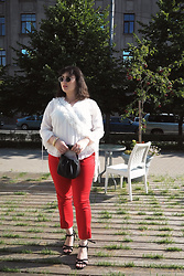 Anna Puzova - Vintage Blouse, Mango Trousers, Mango Bag, Reserved Sandals - Some Spanish Vibes