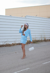 Claudia Villanueva - Shein Suit, Yesstyle Bag, Zara Sandals - Pastel Blue Babe
