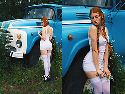 Umbird - Zaful Dress, Dolls Kill Panty - Retro car
