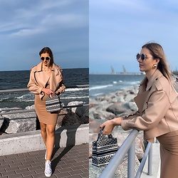 Zuza - Ducie London Jacket, Zara Dress, Mango Bag, Converse Sneakers - Seaside vibes