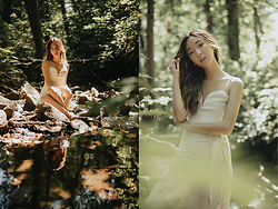 Gabby Chia - Aritzia Heart Shaped Camisole, Glassons Tie Waist Linen Skirt, En Route Leaf Choker - A nook in the creek
