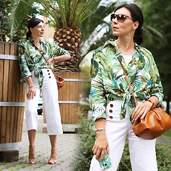 Minimalissmo .. -  - Summer palm-leaf-blouse